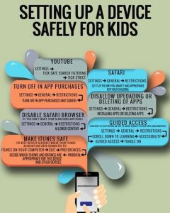 Setting up a device safely for kids