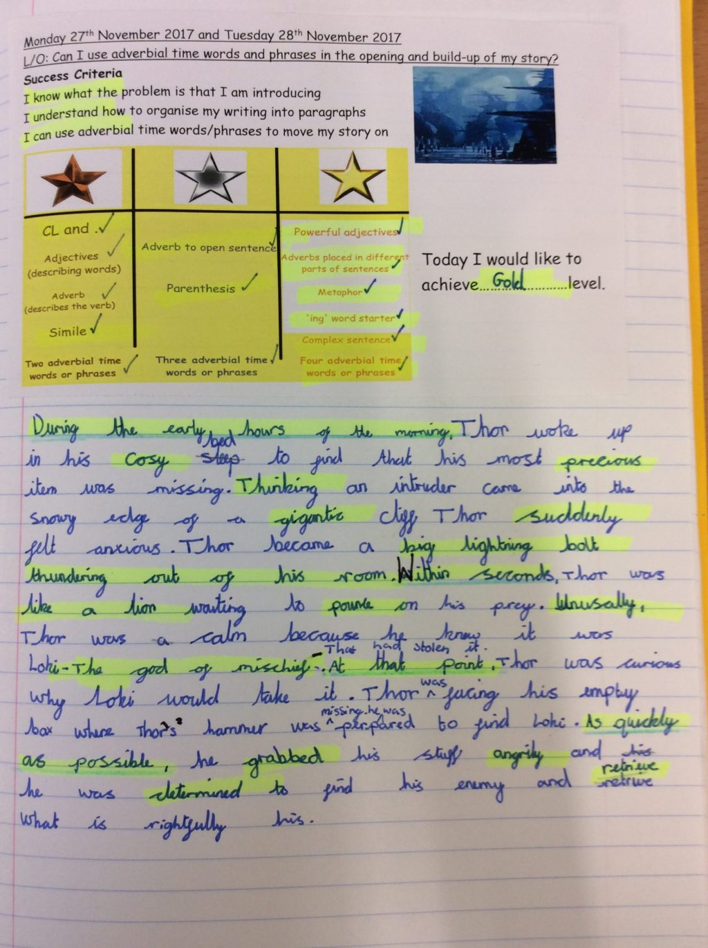 Myths and Legends Writing  Newdale Primary and Nursery School